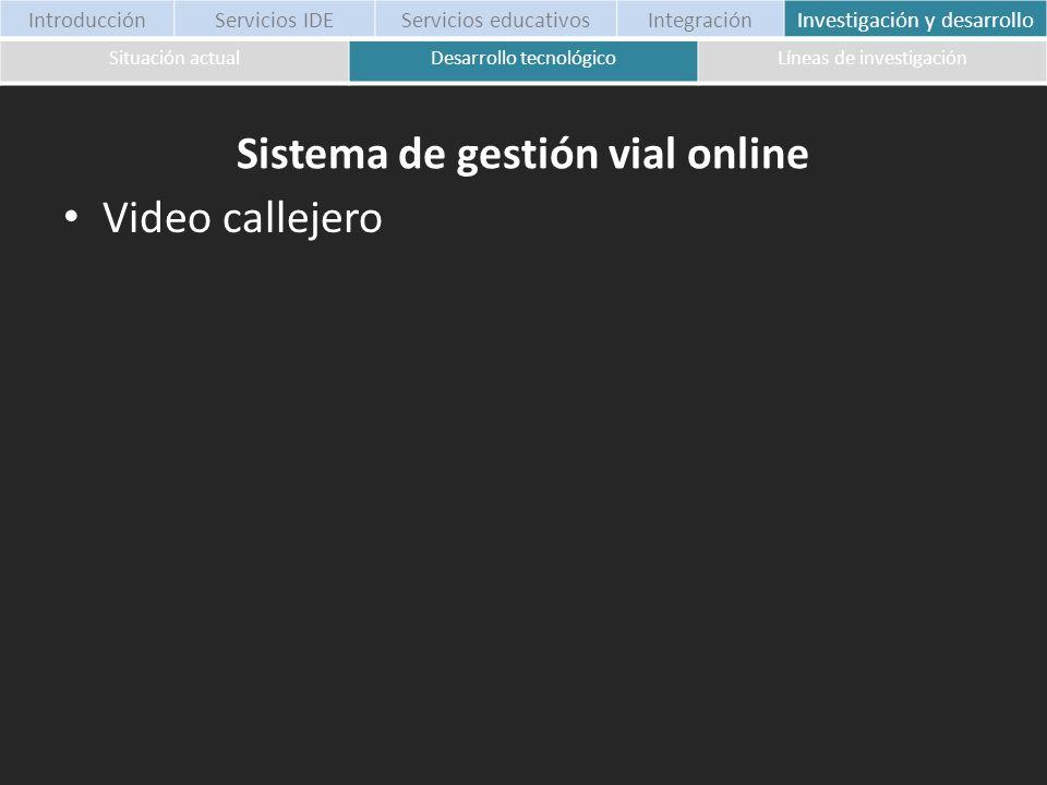 Sistema de gestión vial online