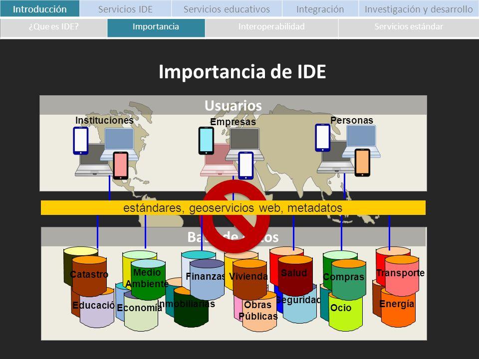 Importancia de IDE Usuarios Base de datos