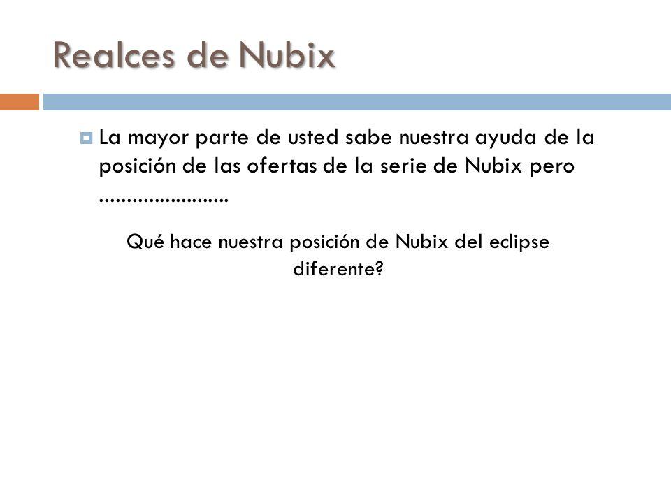 Qué hace nuestra posición de Nubix del eclipse diferente