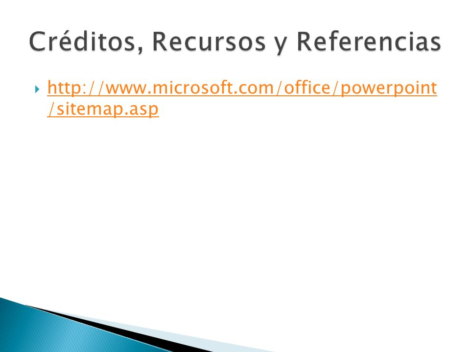 Créditos, Recursos y Referencias