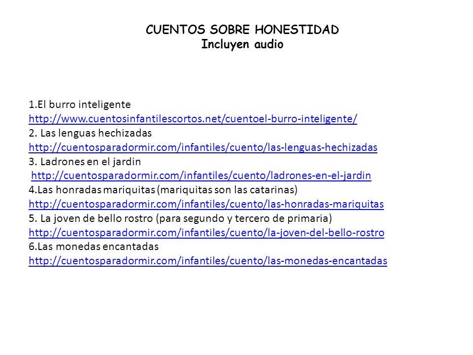 CUENTOS SOBRE HONESTIDAD