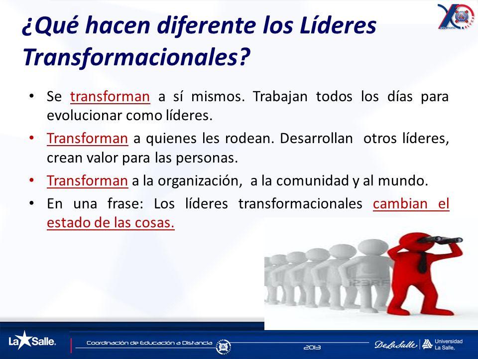 ¿Qué hacen diferente los Líderes Transformacionales