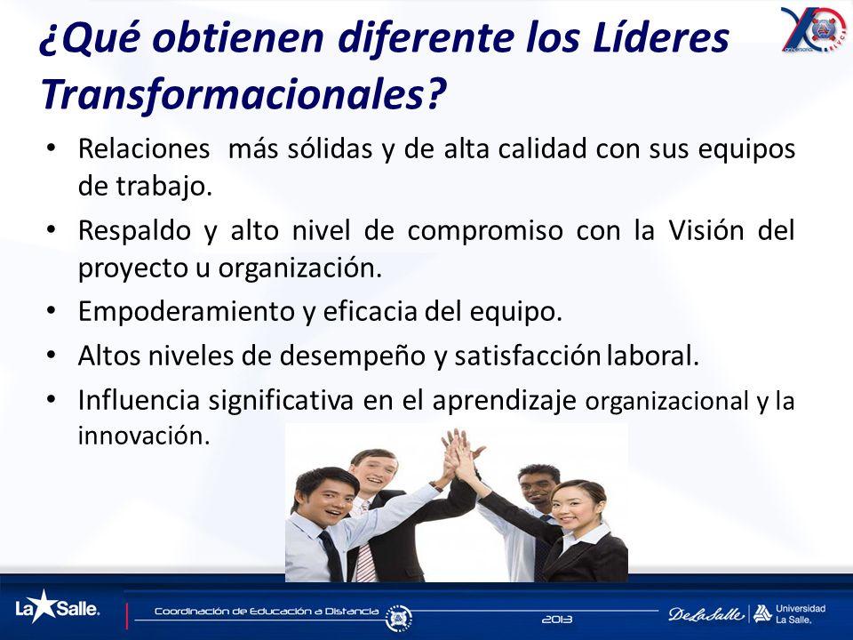 ¿Qué obtienen diferente los Líderes Transformacionales