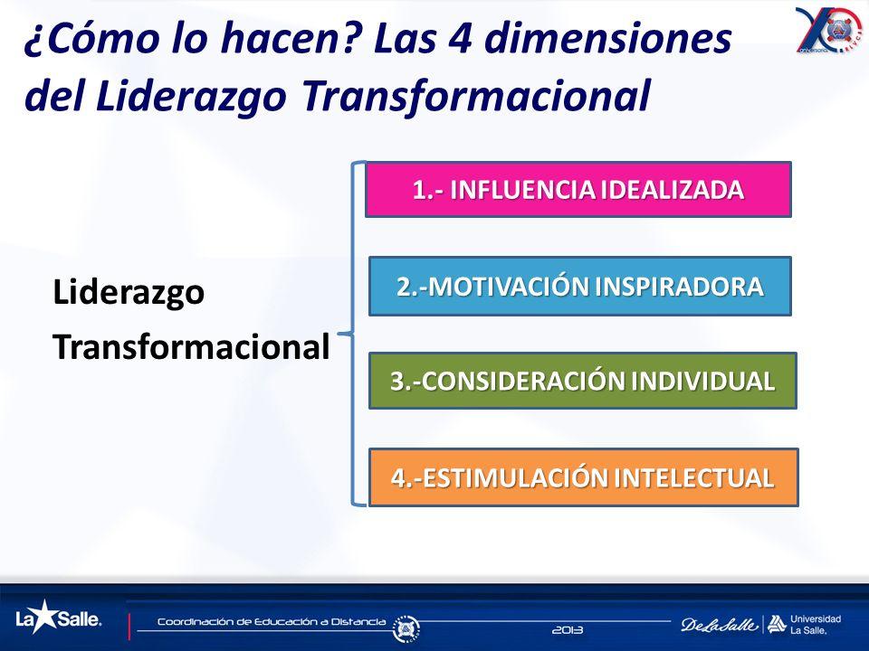 ¿Cómo lo hacen Las 4 dimensiones del Liderazgo Transformacional