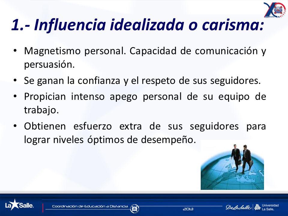 1.- Influencia idealizada o carisma: