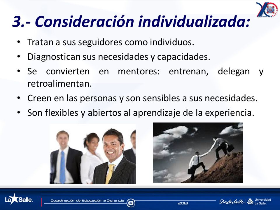 3.- Consideración individualizada: