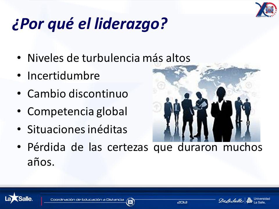 ¿Por qué el liderazgo Niveles de turbulencia más altos Incertidumbre