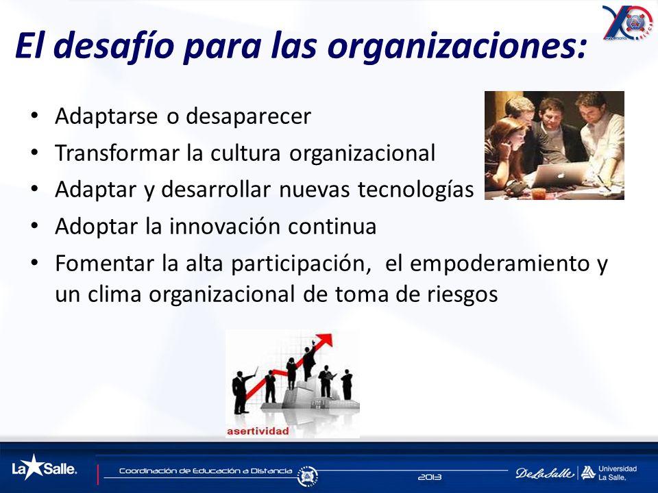 El desafío para las organizaciones: