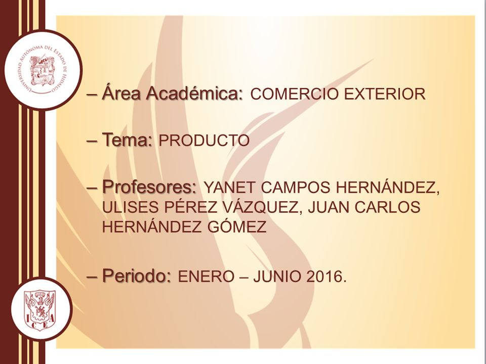 Universidad aut noma del estado de hidalgo ppt video for Profesores exterior