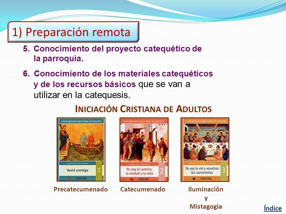 1) Preparación remota Iniciación Cristiana de Adultos