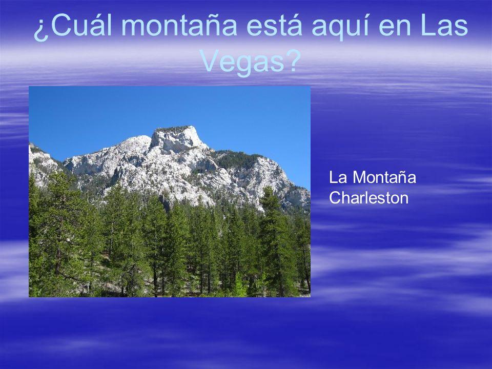 ¿Cuál montaña está aquí en Las Vegas