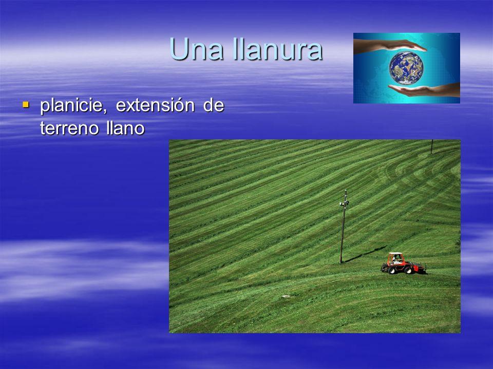 Una llanura planicie, extensión de terreno llano
