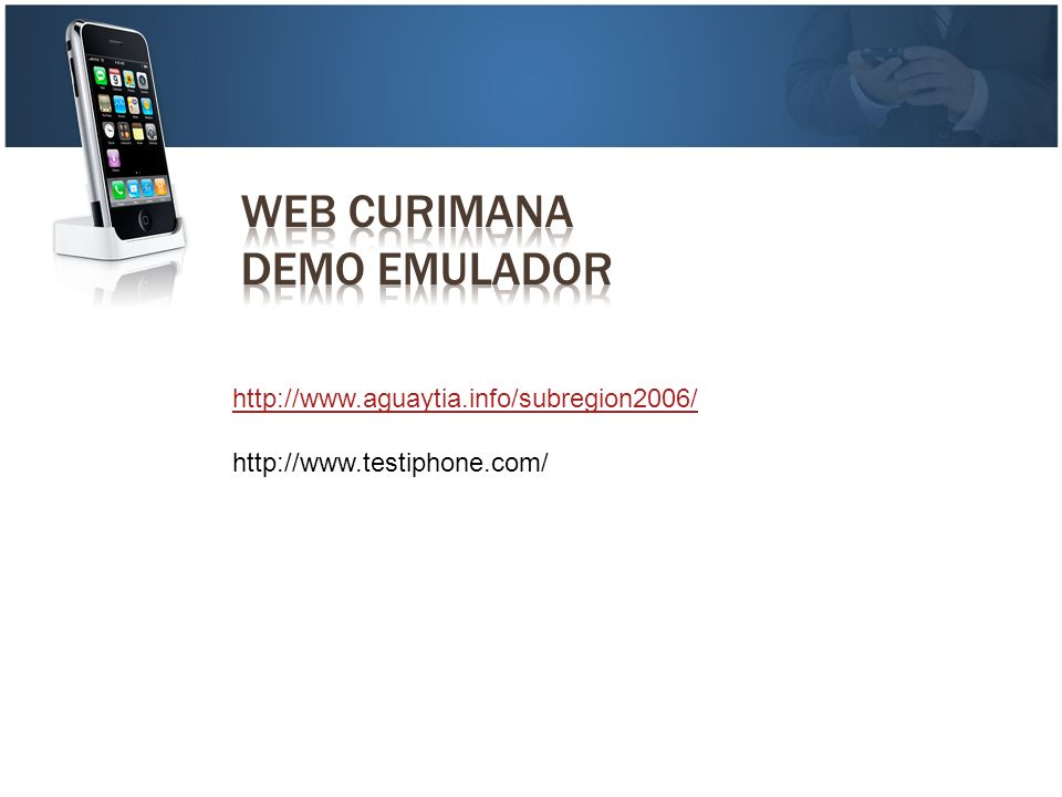 WEB CURIMANA DEMO EMULADOR