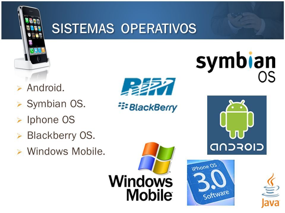 SISTEMAS OPERATIVOS Android. Symbian OS. Iphone OS Blackberry OS.