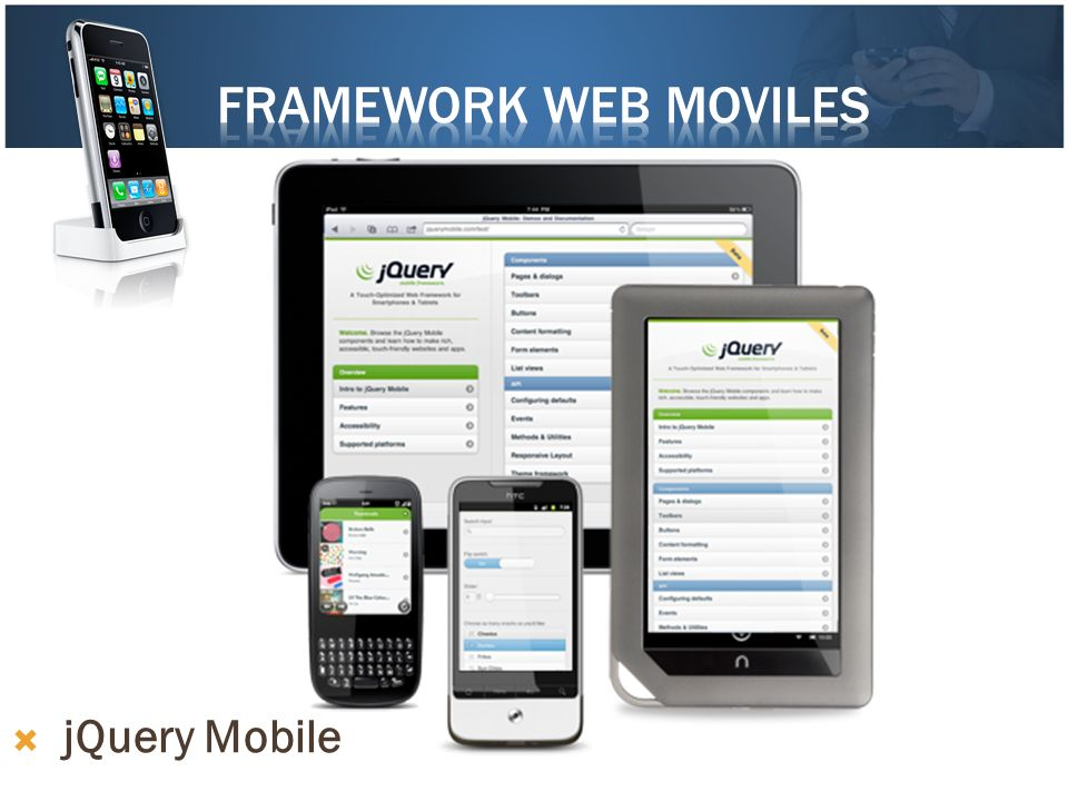 Framework web moviles jQuery Mobile