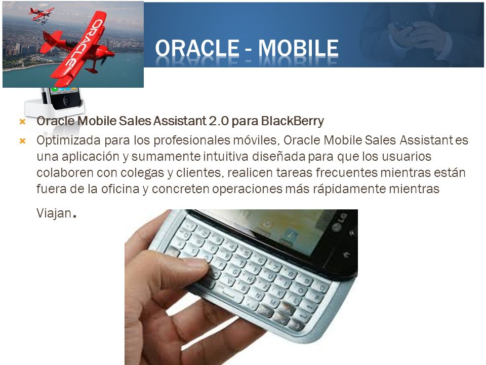 Oracle - mobile Oracle Mobile Sales Assistant 2.0 para BlackBerry