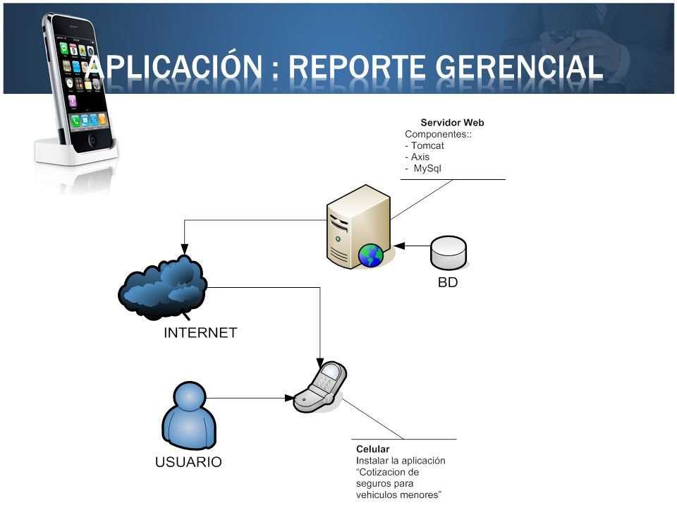 Aplicación : reporte gerencial