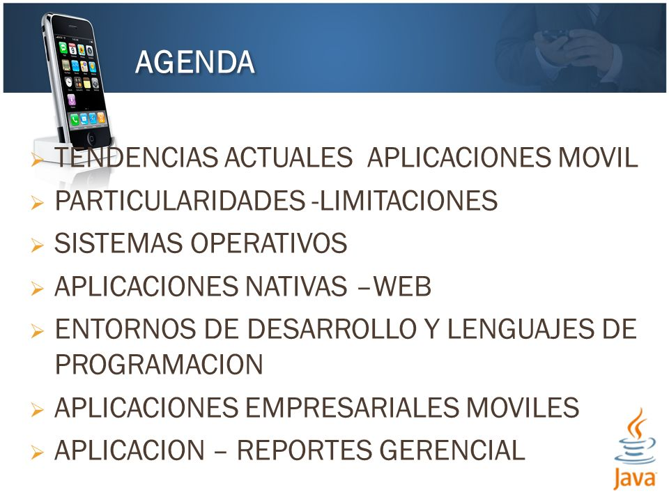 AGENDA TENDENCIAS ACTUALES APLICACIONES MOVIL