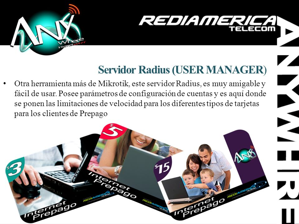 Servidor Radius (USER MANAGER)