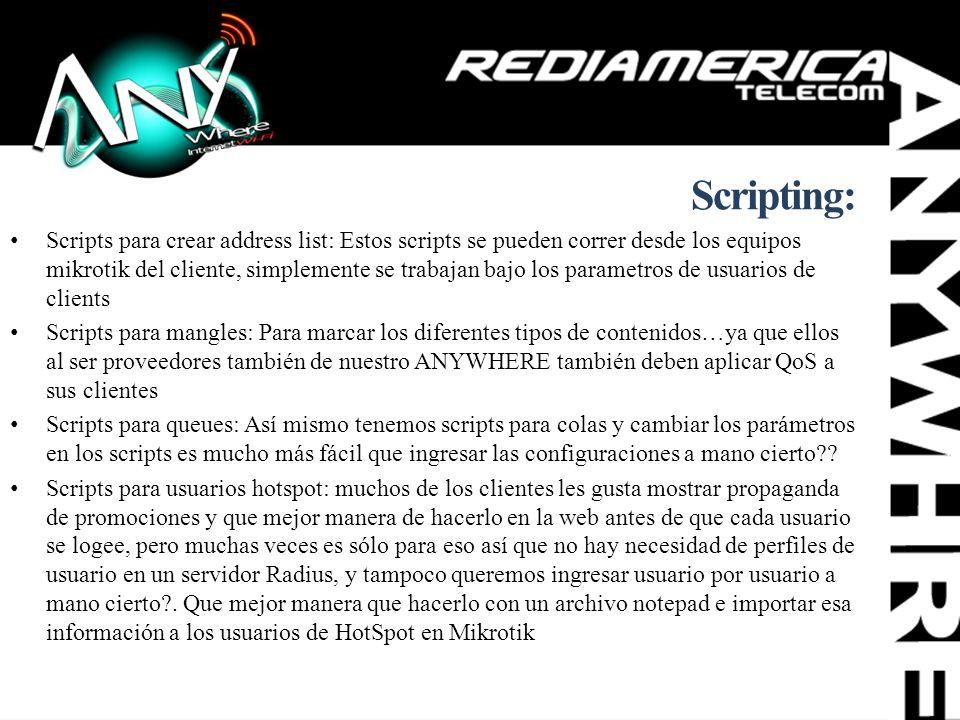 Scripting: