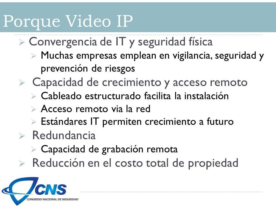 Porque Video IP Convergencia de IT y seguridad física