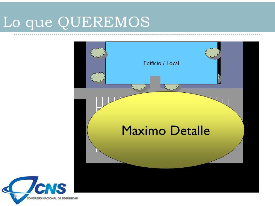 Lo que QUEREMOS Edificio / Local Estacionamiento Maximo Detalle