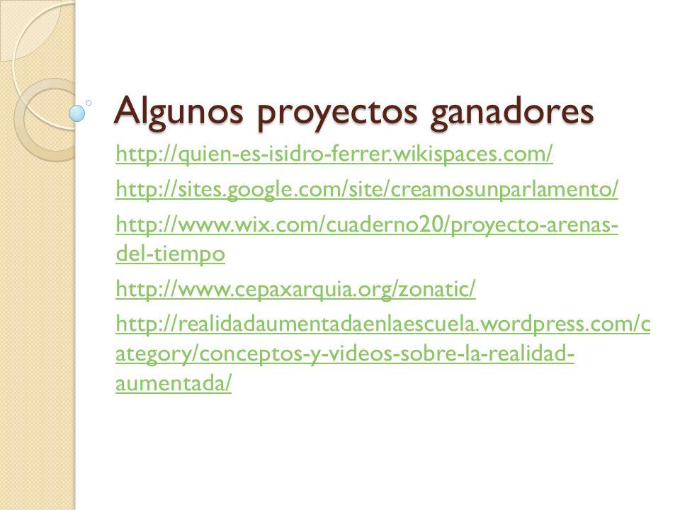 Algunos proyectos ganadores
