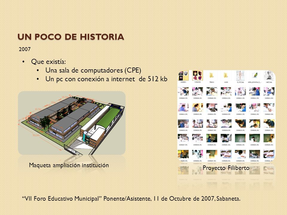 Un poco de Historia Que existía: Una sala de computadores (CPE)