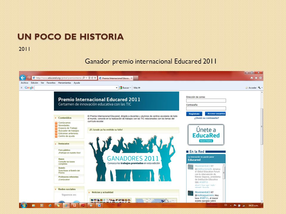 Ganador premio internacional Educared 2011