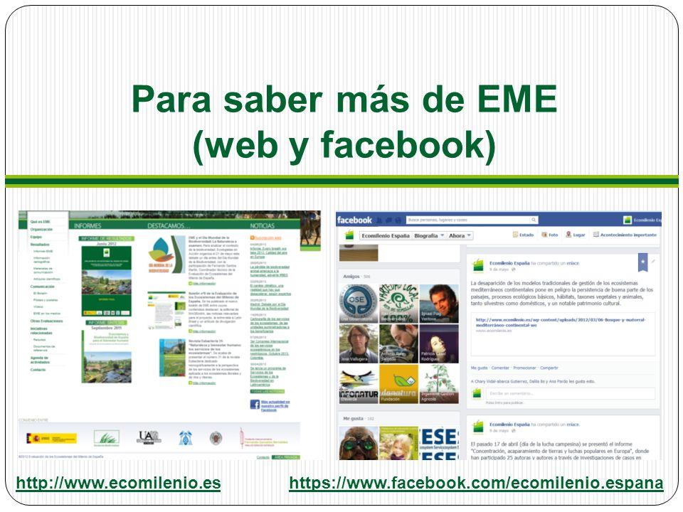 Para saber más de EME (web y facebook)