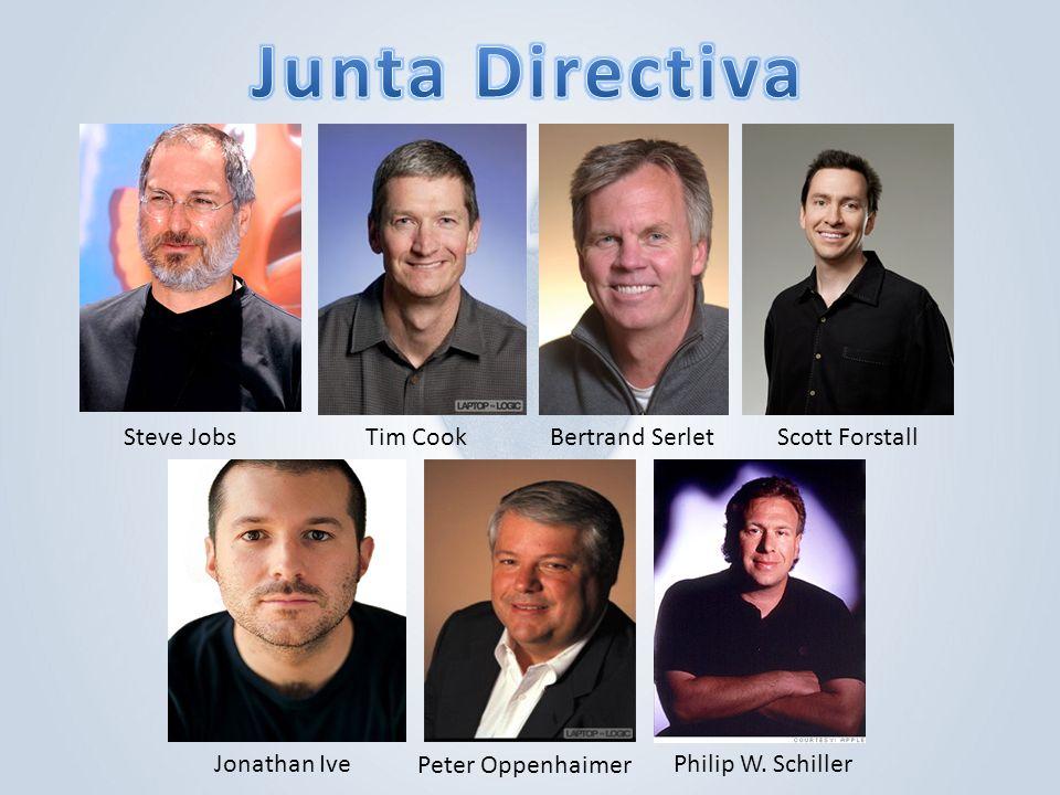 Junta Directiva Steve Jobs Tim Cook Bertrand Serlet Scott Forstall