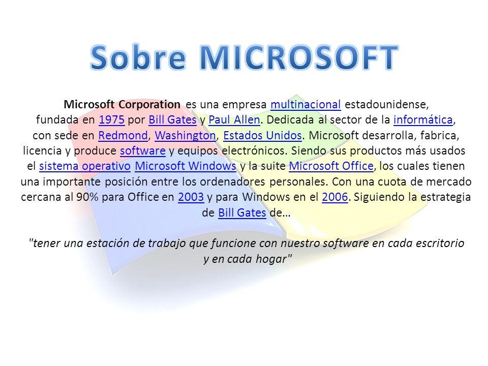 Microsoft Corporation es una empresa multinacional estadounidense,