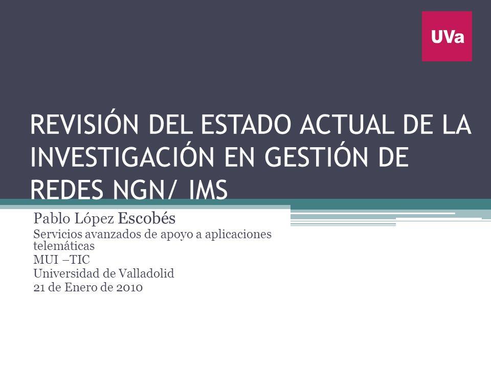 REVISIÓN DEL ESTADO ACTUAL DE LA INVESTIGACIÓN EN GESTIÓN DE REDES NGN/ IMS