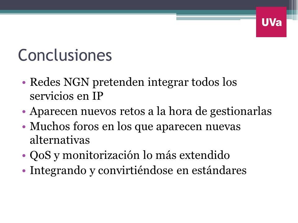 Conclusiones Redes NGN pretenden integrar todos los servicios en IP