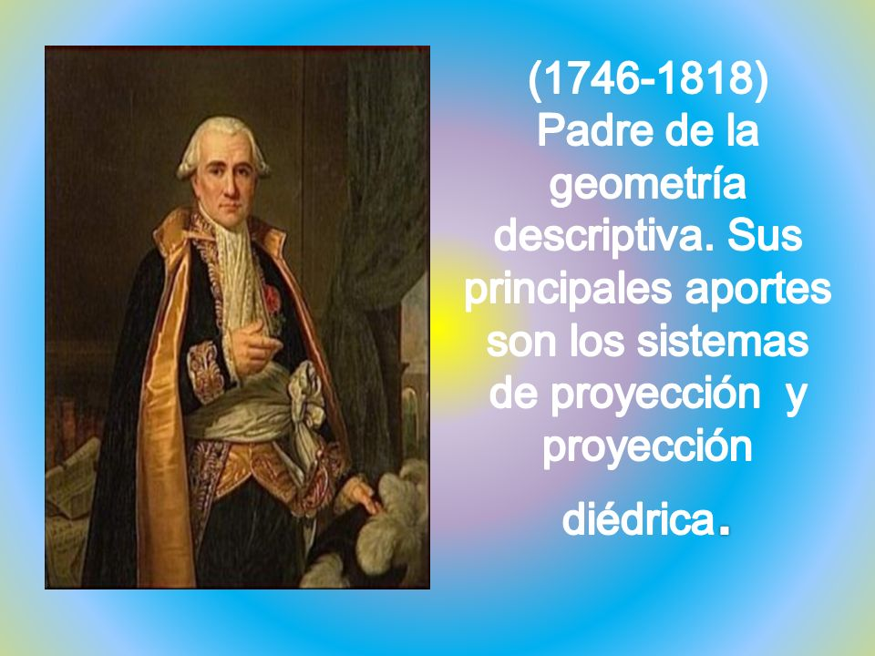 (1746-1818) Padre de la geometría descriptiva.