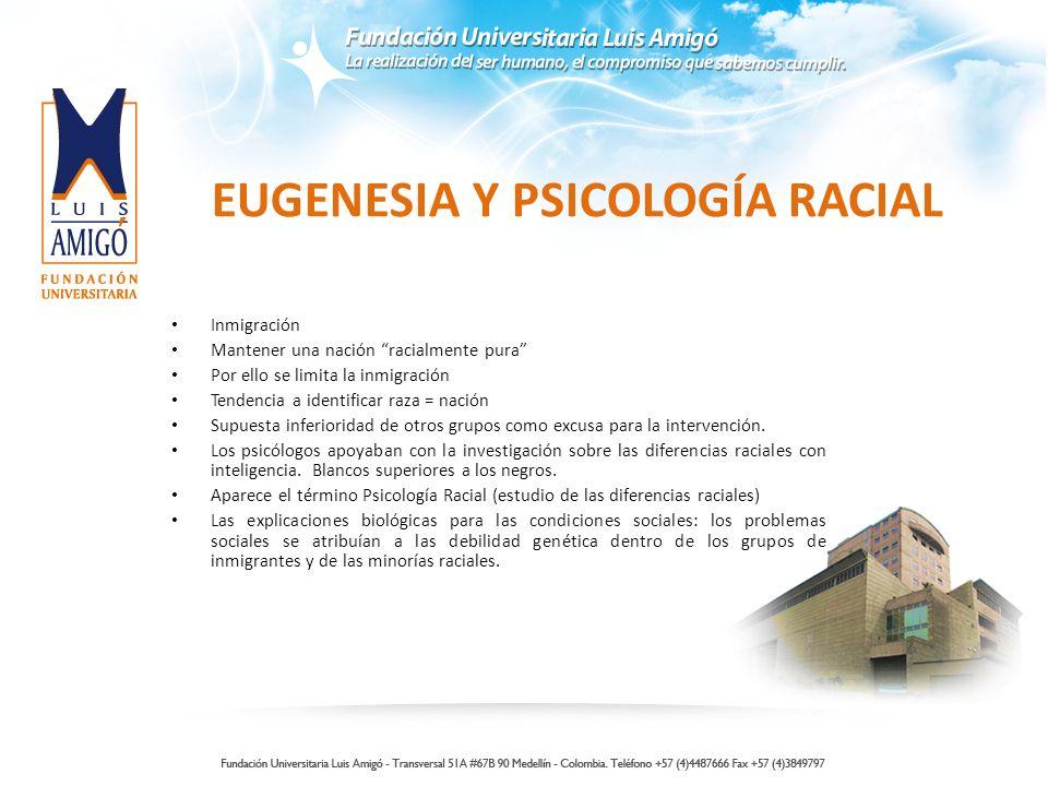 EUGENESIA Y PSICOLOGÍA RACIAL