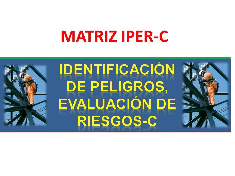 IDENTIFICACIÓN DE PELIGROS, EVALUACIÓN DE RIESGOS-C