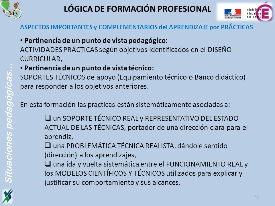 LÓGICA DE FORMACIÓN PROFESIONAL