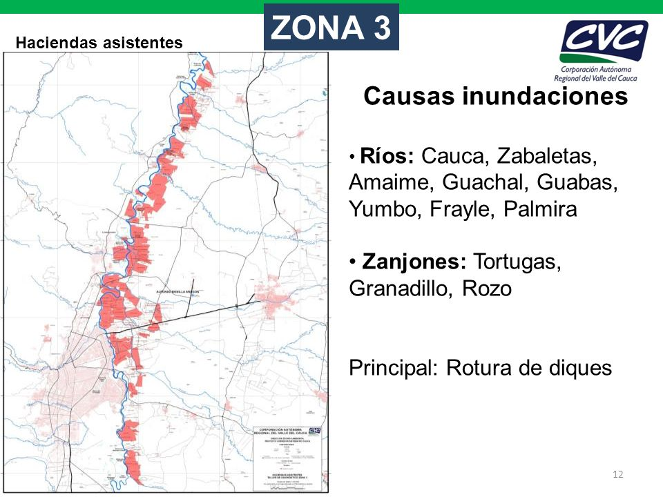 ZONA 3 Causas inundaciones Zanjones: Tortugas, Granadillo, Rozo