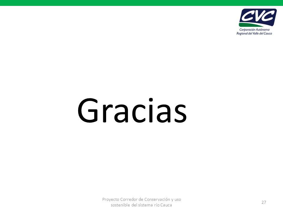 Gracias Proyecto Corredor de Conservación y uso sostenible del sistema río Cauca