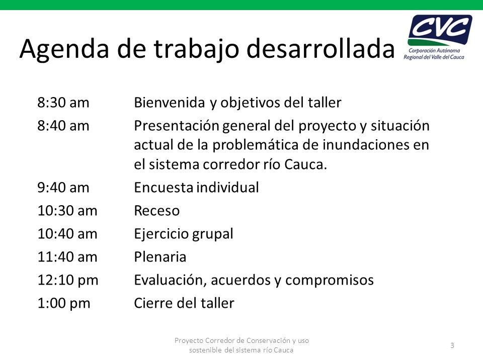 Agenda de trabajo desarrollada