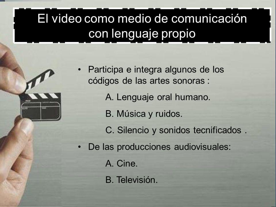 El video como medio de comunicación con lenguaje propio