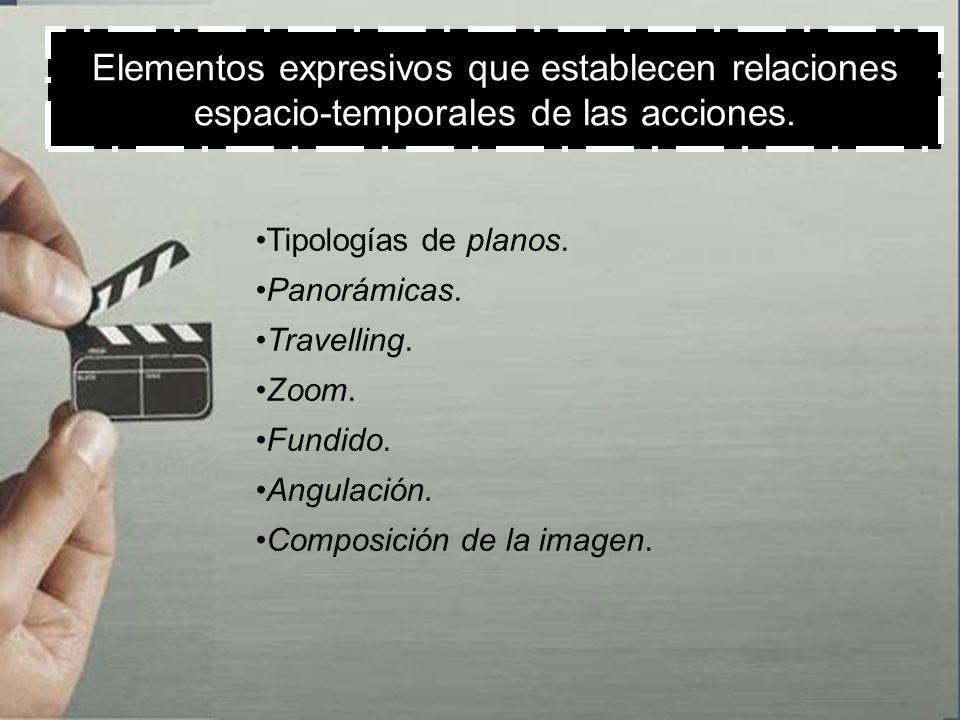 Elementos expresivos que establecen relaciones espacio-temporales de las acciones.