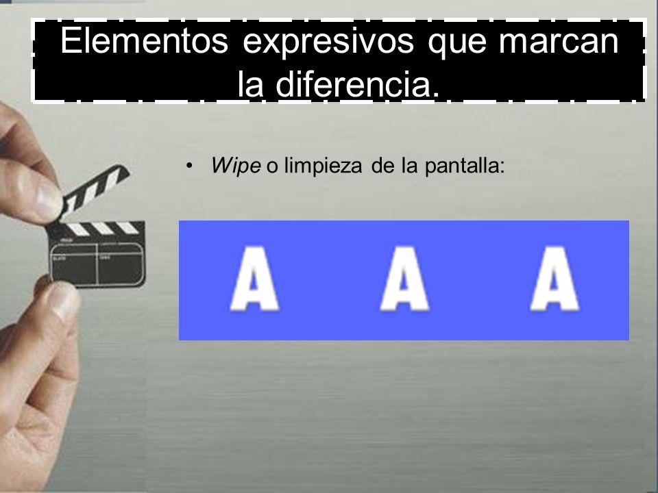 Elementos expresivos que marcan la diferencia.