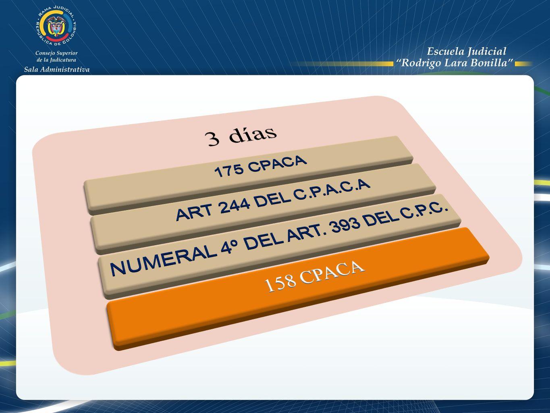 NUMERAL 4º DEL ART. 393 DEL C.P.C.
