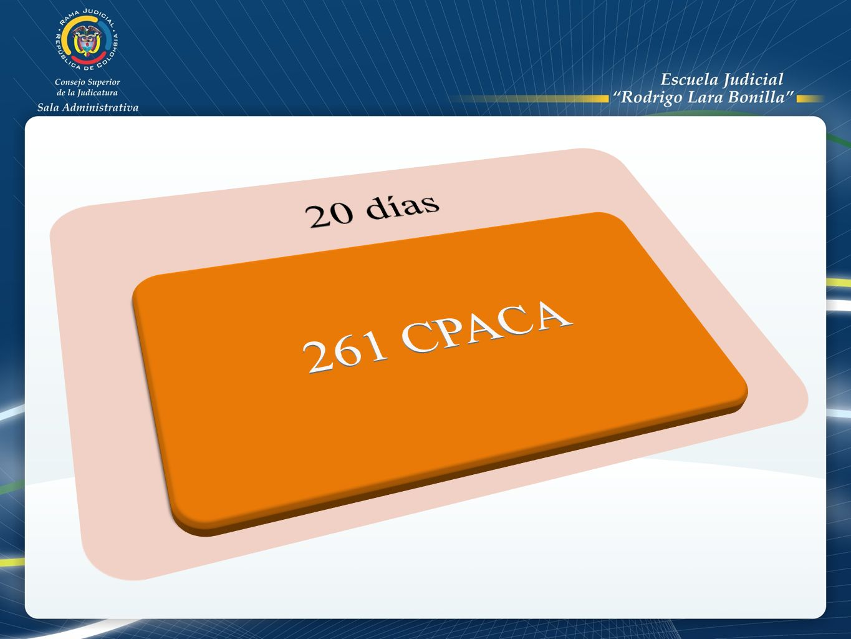 20 días 261 CPACA