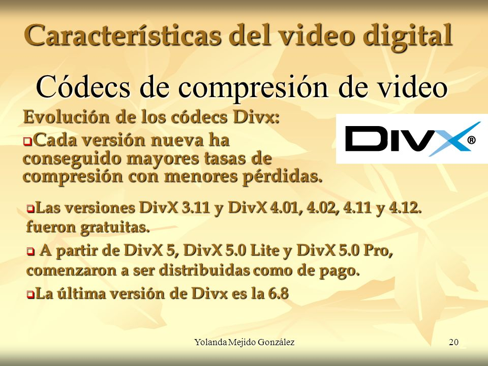 Características del video digital