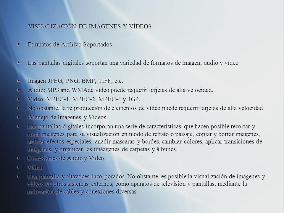 VISUALIZACIÓN DE IMÁGENES Y VÍDEOS