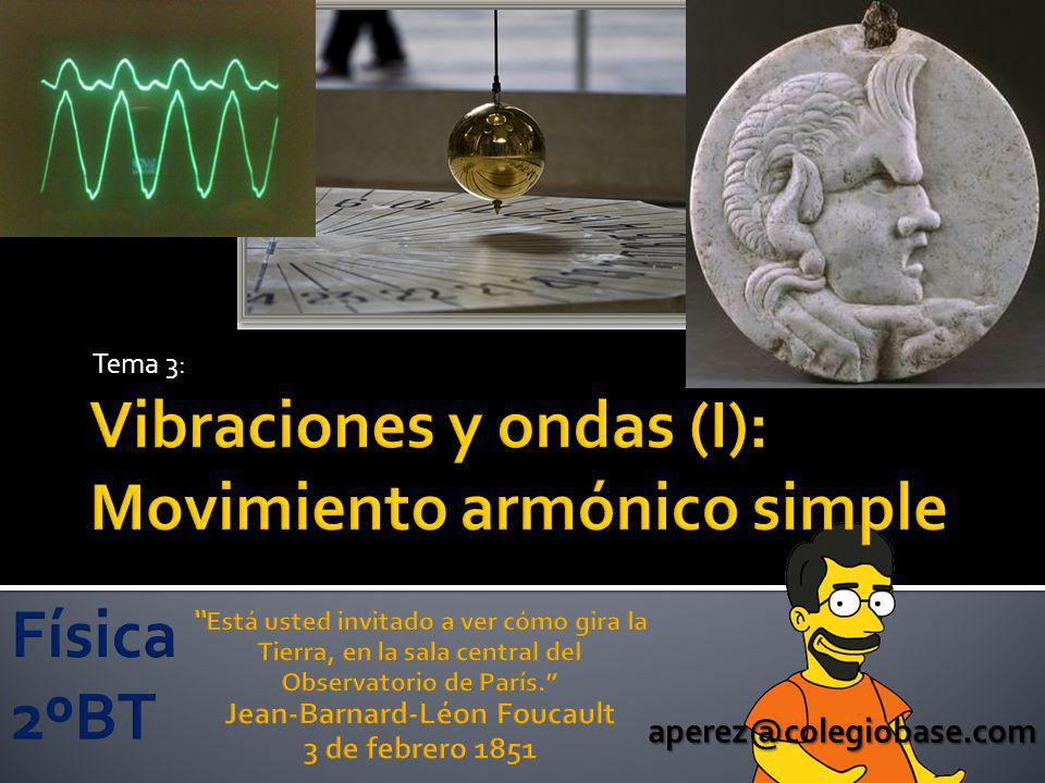 Vibraciones y ondas (I): Movimiento armónico simple