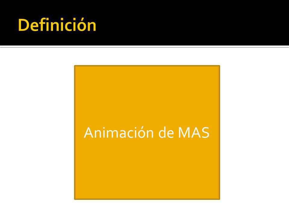 Definición Animación de MAS